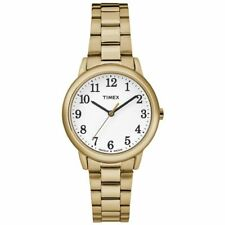 Timex TW2R23800 Women's Stainless Steel Gold Tone Bracelet Watch Easy Reader