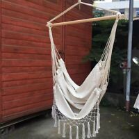 Us Sell Outdoor Indoor macrame Garden Cotton Hanging Air/Sky Chair Swing Hammock