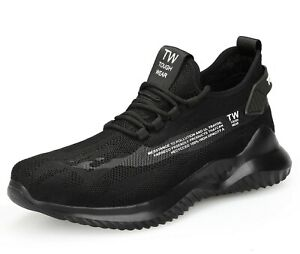 MENS LIGHTWEIGHT STEEL TOE CAP SAFETY TRAINERS EXTRA FLEXIBLE TRAINER BOOT SHOES