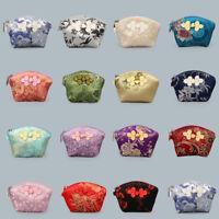 Chinese Handmade Silk Gift Pouches Purse Jeweler Rolls Gift bag 11x8.5cm