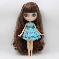 """Takara 12"""" Neo Blythe Dark Brown Hair Joint body Nude Doll from Factory TBY211"""