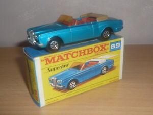 rolls royce cabriolet couleur bleu n'69 matchbox superfast en boite