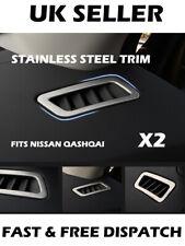 Stainless Steel Air Vent Surround Trim Nissan Qashqai J11 X-trail T32 2015 - 18