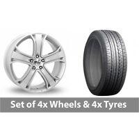 """4 x 16"""" Zito Blazer Silver Alloy Wheel Rims and Tyres -  205/65/16"""