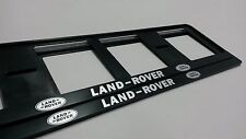 2X LAND ROVER EUROPEAN LICENSE NUMBER PLATE SURROUND FRAME HOLDER.