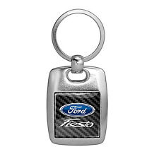 Ford Fiesta Full Color Carbon Fiber Backing Brush Metal Key Chain Keychain
