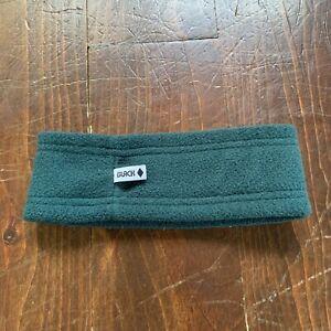 Vintage Black Diamond Fleece Ski Headband Ear Warmer Green Fits A Small Head*