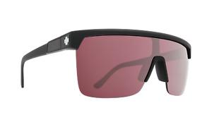 Spy FLYNN 5050 Matte Black w/ HD Plus Rose Silver Spectra Mirror Sunglasses