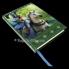 *REALM OF ENCHANTMENT* Anne Stokes Fairy Unicorn Dragon Embossed Journal (17cm)