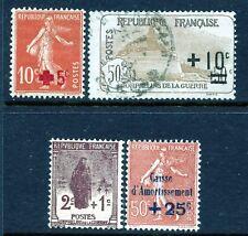 FRANCE 1914-28 SEMI-POSTALS B1/29