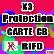 Protection carte bancaire FR sans contact RFID / NFC ISO14443 étui ANTI-PIRATAGE