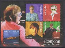 UMM MNH STAMP SHEET 2003 MALTA ELTON JOHN SG MS1315