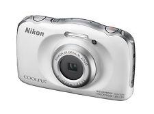 Kompaktkamera (wasserdicht) Nikon COOLPIX W100 13,2 MP - WEISS , 3x Zoom