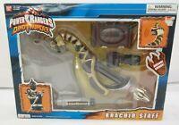 Power Rangers Dino Thunder Electronic Black Brachio Staff  Open Box  EL