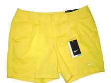 NIKE women's  Dri-Fit yellow Oxford Golf Shorts  size  6 retail $75
