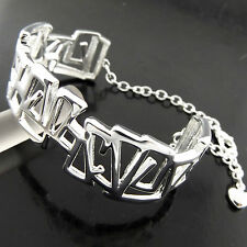 Bangle Bracelet Real 925 Sterling Silver S/F Solid Ladies Cuff Bespoke Design