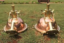 NAUTICAL MARINE HANGING CEILING CARGO PENDANT BRASS & COPPER  NEW LIGHT 2PCS