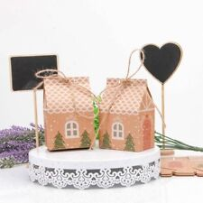 5pcs Christmas Box House Shape Gift Bags Candy Paper Packaging Pouch Santa Claus