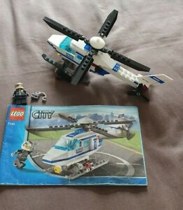 Lego Set 7741 Lego City Police Helicopter - Complete with Instructions