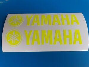 Yamaha Motorrad Sticker Aufkleber in Gelb Neon 2x 290x50mm+++Beklebungsanleitung