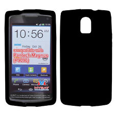 For AT&T Pantech Discover P9090 Rubber SILICONE Soft Gel Skin Case Cover Black
