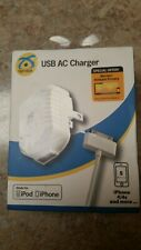 Symtek  USB AC Charger IPhone 4/4s IPod White. New in box