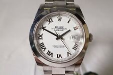 ROLEX OYSTER PERPETUAL DATEJUST CHRONOMETER AUTOMATIC MEN'S WRISTWATCH  #WS755