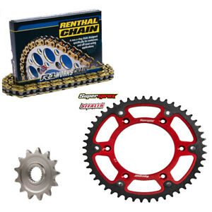 Honda CRF450X Gold Renthal R1 Chain And Supersprox RED Stealth Sprocket Kit