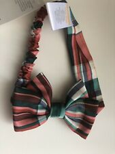 NWT Gymboree Girls Plaid Holiday OS Headband