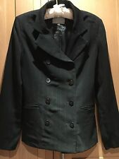 JIGSAW LADIES NAVY PINSTRIPE JACKET SIZE 10