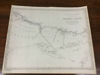 1837 Antique Map of Tripoli Egypt Africa Barbary Chapman Hall Victorian Original
