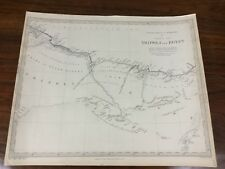 More details for 1837 antique map of tripoli egypt africa barbary chapman hall victorian original
