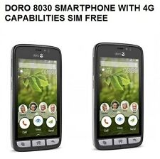 Doro 8030 Black SIM Free 4G Smartphone unlocked handset only