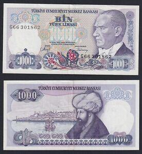 Turchia 1000 lira 1986 SPL/XF  C-05
