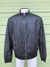 NWT Zara Man Men Jacket  Faux Leather black bomber jacket biker S  4341450
