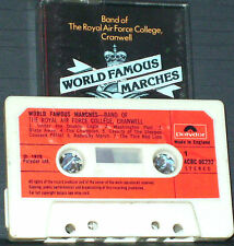 Band Royal Air Force College Cranwell World Famous Marches CASSETTE ALBUM