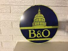 Antiqued Baltimore and Ohio  Capital Round Logo Heavy Steel Sign New