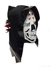 SKELETOR (pro-fit) Adult Lucha Libre Halloween Costume Mask - Black