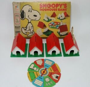 Vintage Snoopy's Doghouse Game from Milton Bradley 1977 Playable or Parts