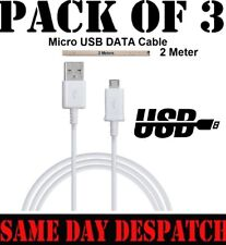 3x 2MT Micro USB Fast Charger Cable Lead for Amazon Kindle Fire HD HDX Tablet