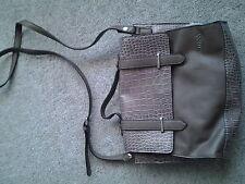 Guess satchel/crossbody bag brown bnwot  faux croc