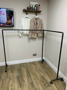Industrial Steampunk Urban Freestanding Corner Clothes Rail - Any Size Available