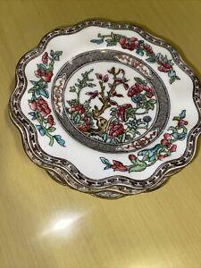 "Coalport Indian Tree Bone China Scalloped 6.5 "" Dessert Plate Set  Of 7 England"