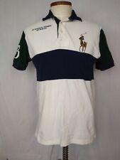 Polo Ralph Lauren #3 Big Pony 1st Division Regiment Rugby Shirt Golf S/S Men's M