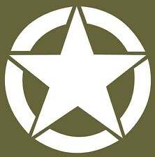 Military Army Star Vinyl Decal Sticker