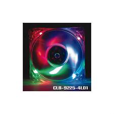 Evercool 92mm Quad Color LED Case Fan CLB-9225-4LD1