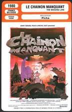 LE CHAINON MANQUANT - Picha (Fiche Cinéma) 1980 - The Missing Link