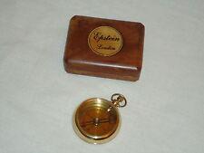 Brass Compass Epstein London In a Hard Wood Box