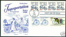 PNC FDC #2266 24.1c TANDEM BICYCLE Pl#1 PS4 GAMM #1901