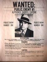 """(149L)GANGSTER AL CAPONE CHICAGO REWARD CRIME BOSS DEPRESSION ERA POSTER 11""""x14"""""""